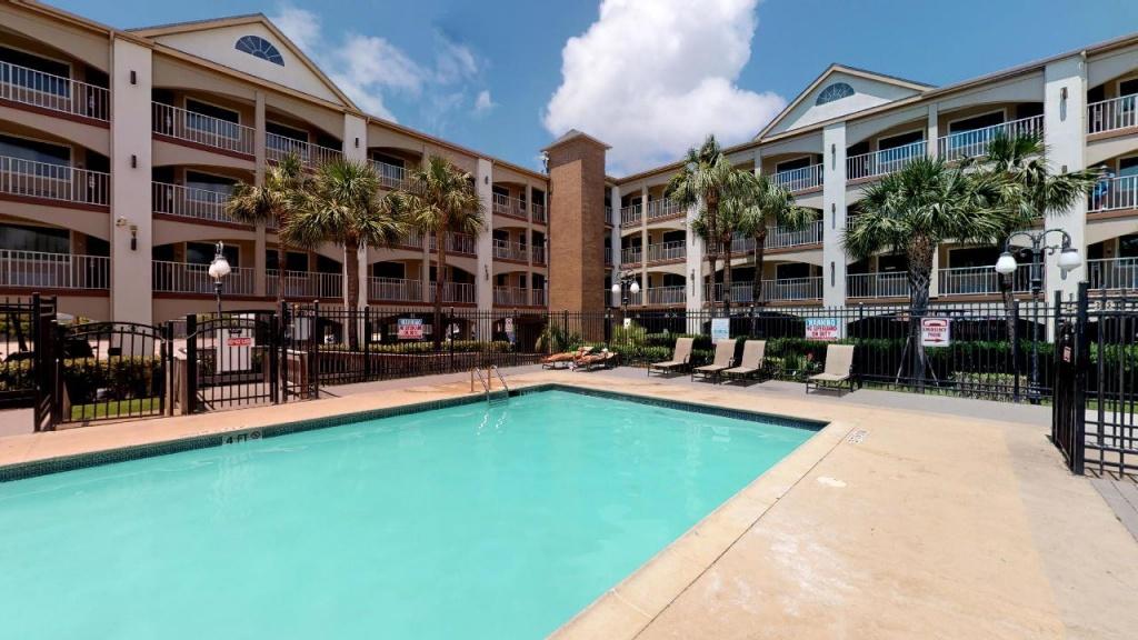 Beachfront Palms Hotel, Galveston, Tx - Booking - Map Of Hotels In Galveston Texas