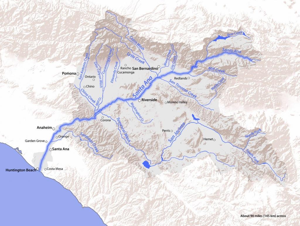 Bear Creek (Santa Ana River Tributary) - Wikipedia - Santa Ana California Map