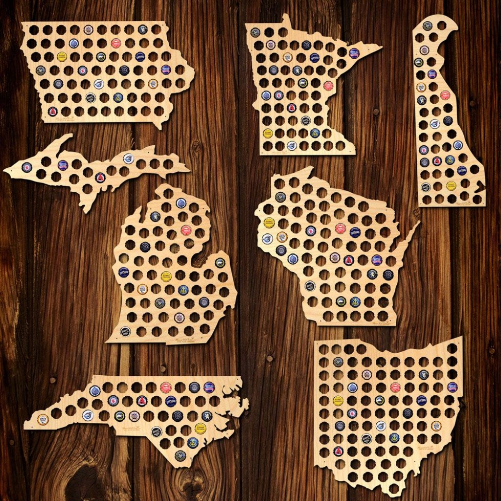 Beer Cap Map Of Your Home State - Texas Beer Cap Map