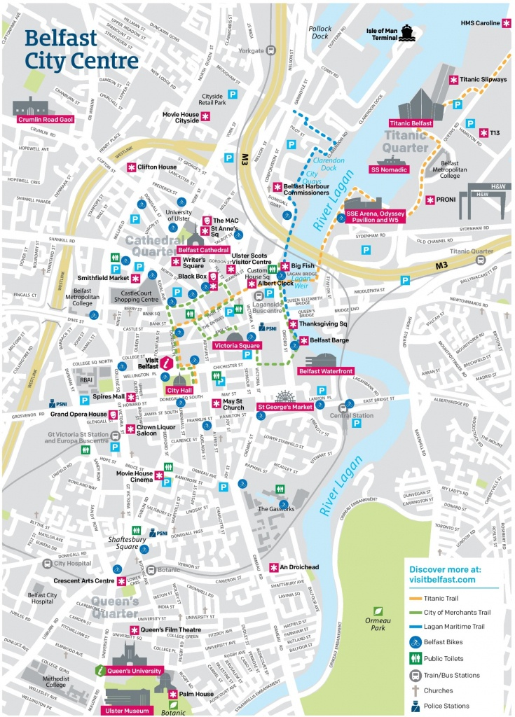 Belfast City Center Map - Belfast City Centre Map Printable