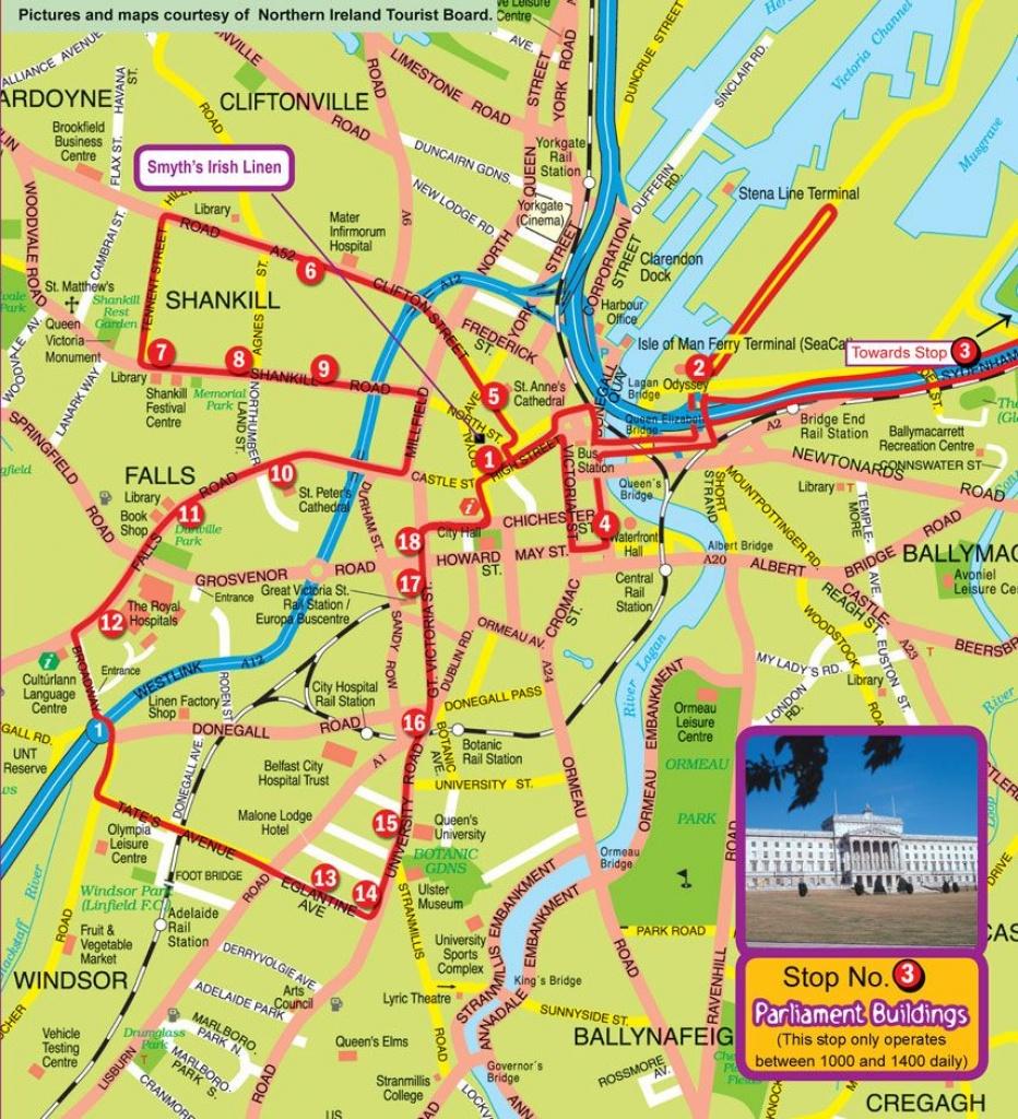 Belfast Map   10 Ports & A Star   Belfast Map, Map, Belfast - Belfast City Map Printable