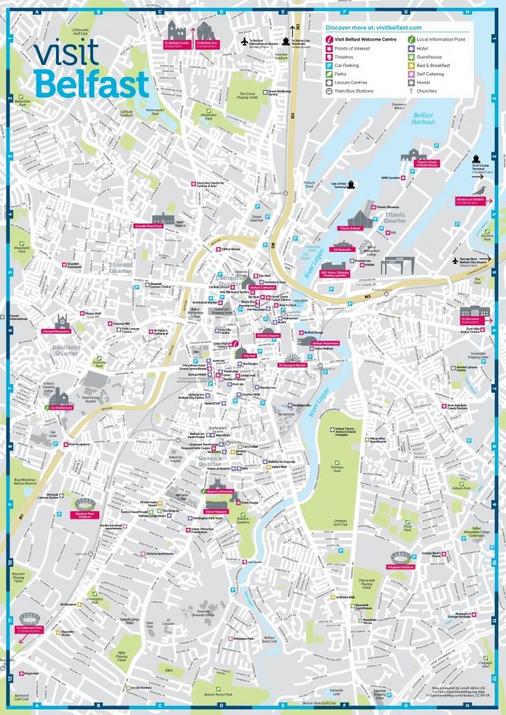 Belfast City Map Printable