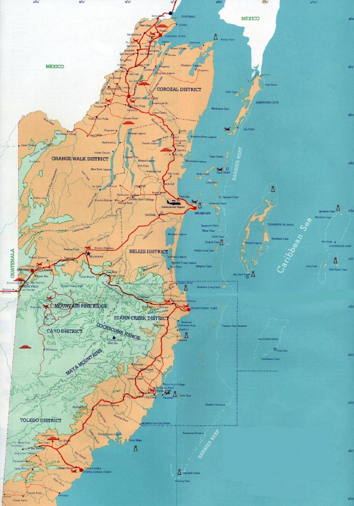 Belize Maps | Printable Maps Of Belize For Download - Printable Map Of Belize