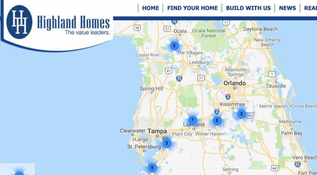 Berkshire Hathaway's Clayton Lands Central Florida's Highland Homes - Highland Beach Florida Map