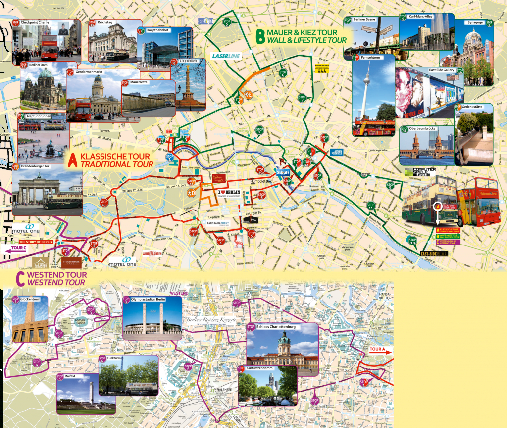Berlin Attractions Map Pdf - Free Printable Tourist Map Berlin - Berlin Tourist Map Printable
