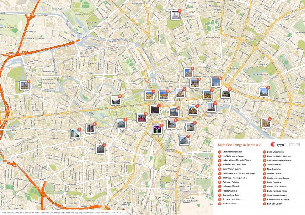Berlin Printable Tourist Map | Sygic Travel - Berlin Tourist Map Printable