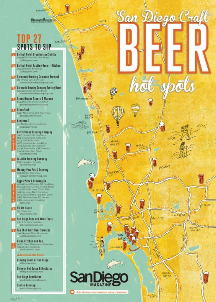 Best Breweries In California Map | Danielrossi - California Brewery Map