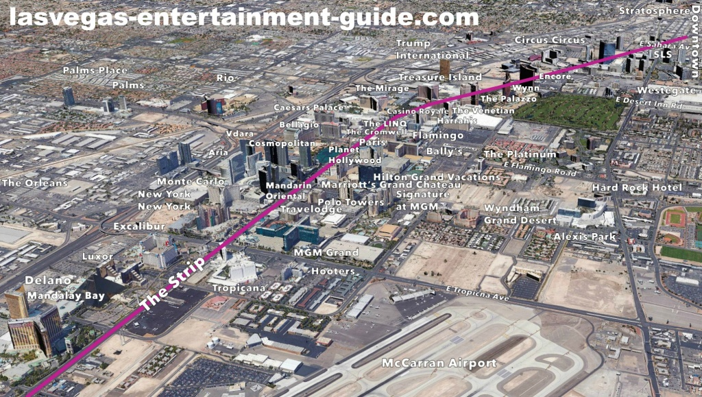 Best Las Vegas Strip Maps - Printable Las Vegas Strip Map 2016