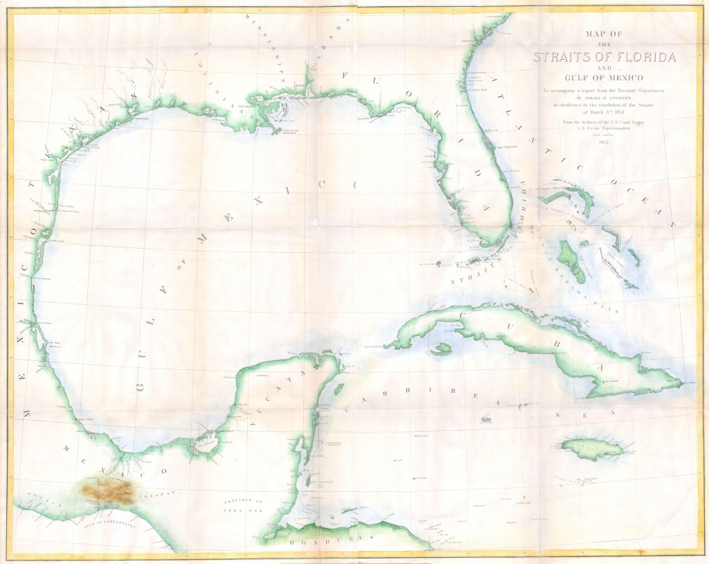 Bestand:1852 Andrews Map Of Florida, Cuba And The Gulf Of Mexico - Florida Gulf Map
