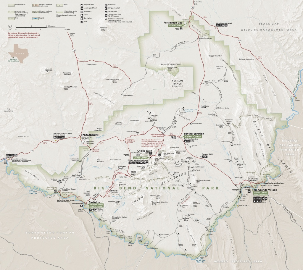 Big Bend Maps | Npmaps - Just Free Maps, Period. - Map Of Big Bend Area Texas