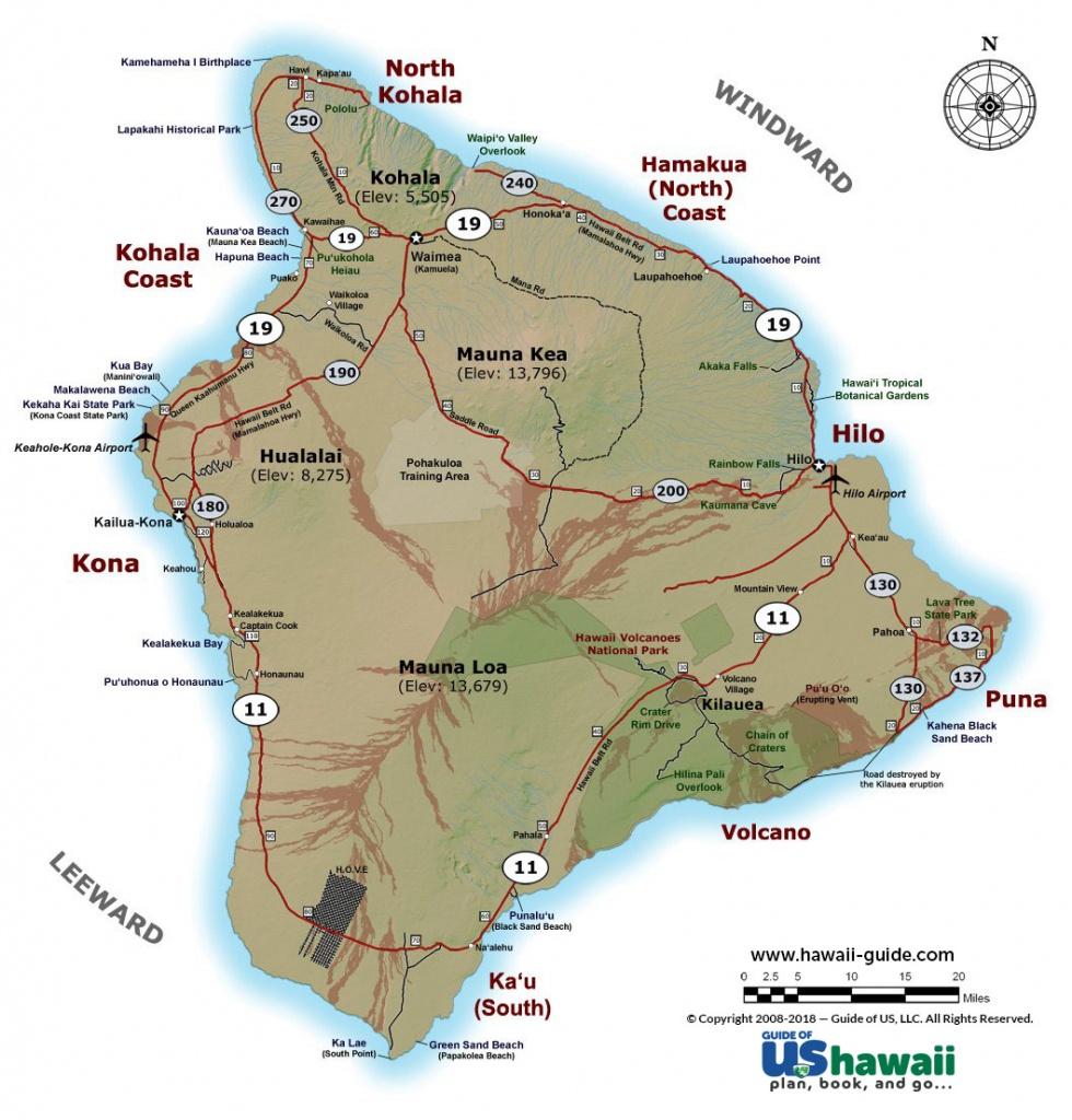 Big Island Of Hawaii Maps - Big Island Map Printable