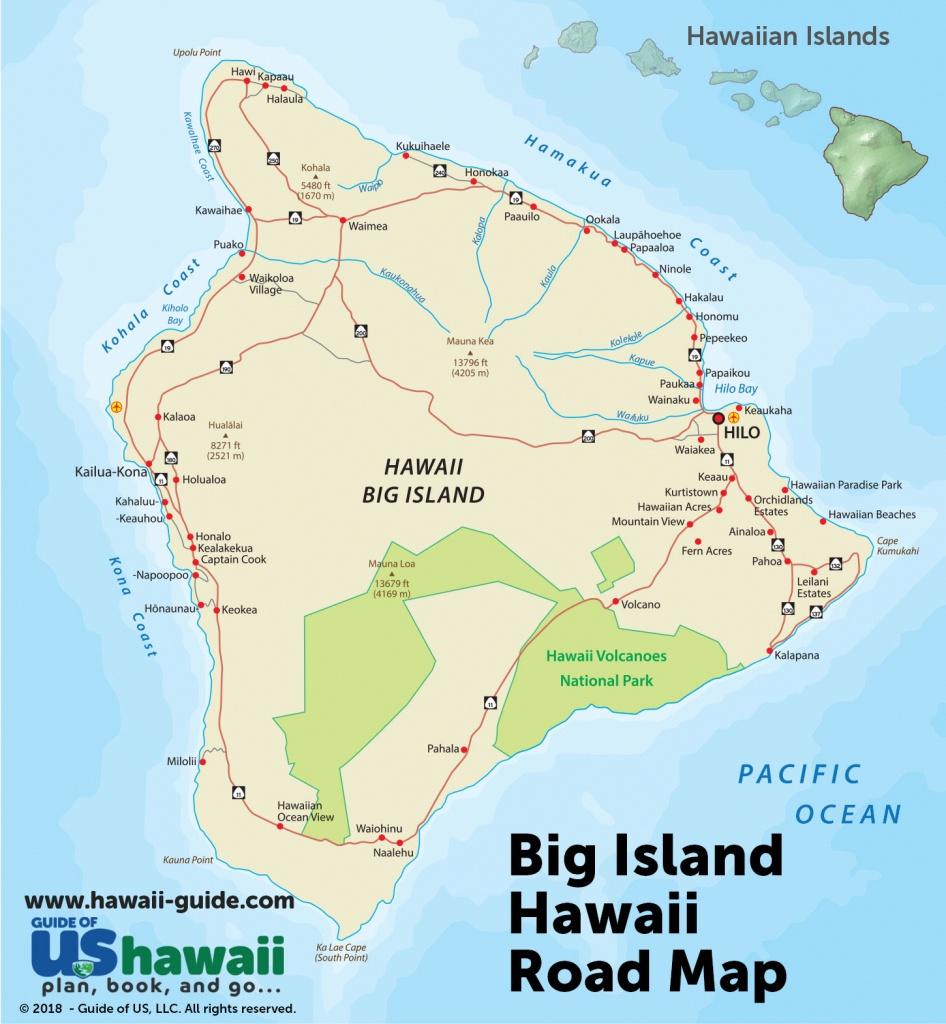Big Island Of Hawaii Maps - Printable Driving Map Of Kauai