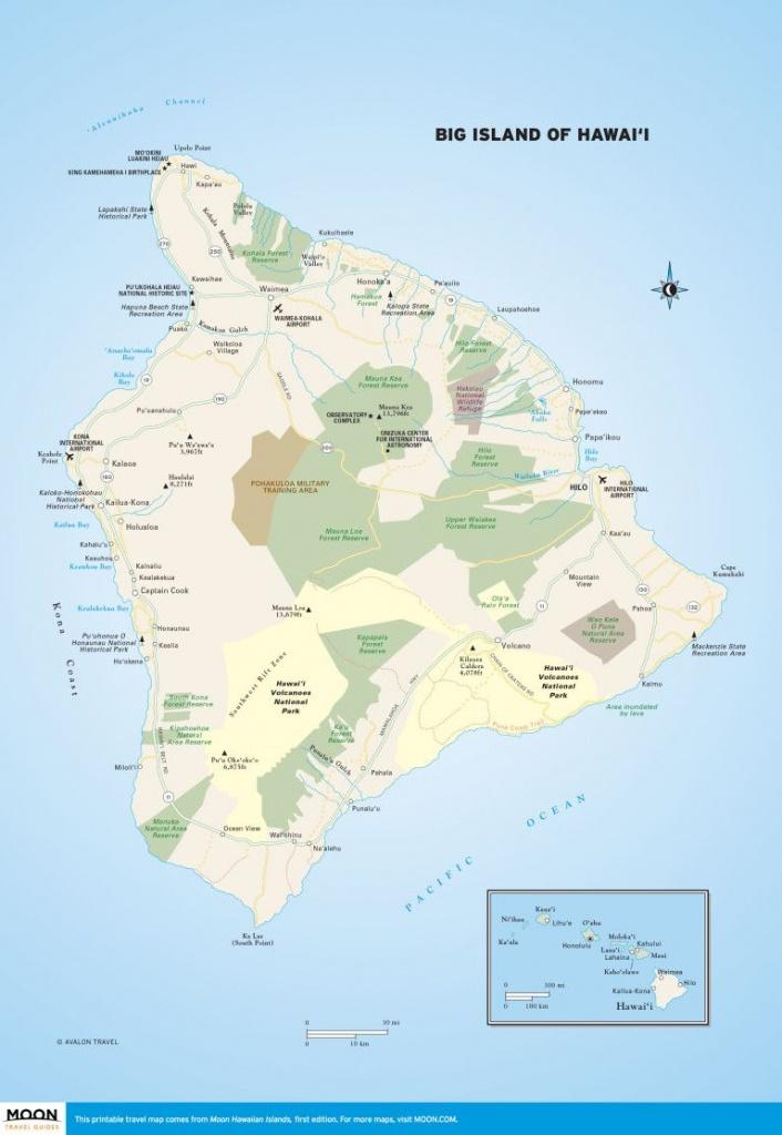 Big Island Of Hawai'i   Scenic Travel   Big Island, Hawaii Volcanoes - Big Island Map Printable