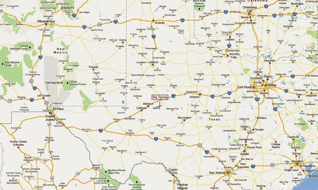 Big Spring Texas Map | Map 2018 - Spring Texas Map