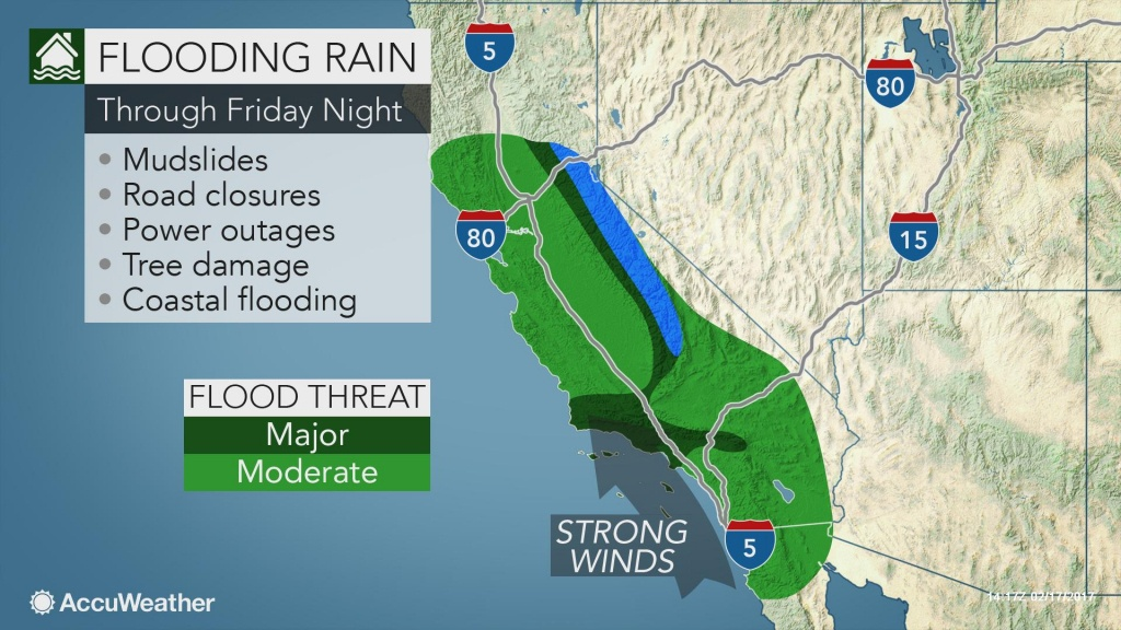 Biggest Storm Of Winter' To Unleash Flooding Rain In California Into - California Coast Weather Map