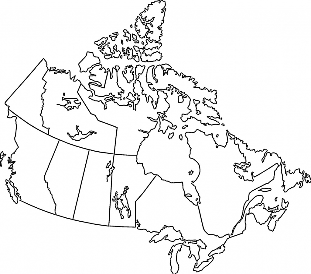 Bigmapofcanada Free Print Map Canada Black And White 16 - Printable Map Of Canada