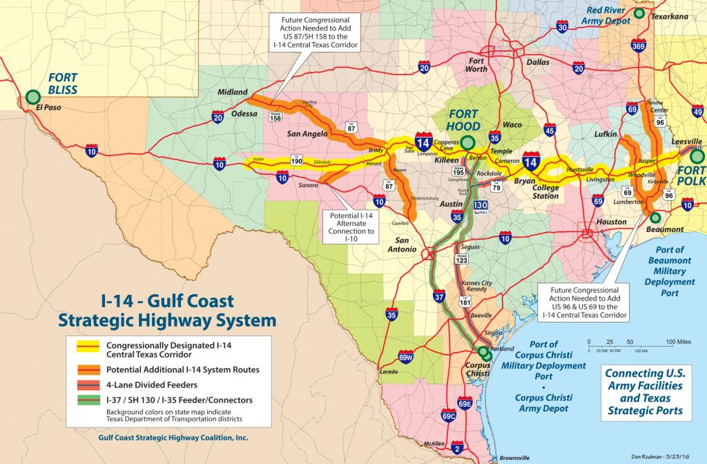 Bill Splits I-14 Into Two West Texas Routes - Midland Reporter-Telegram - Brady Texas Map