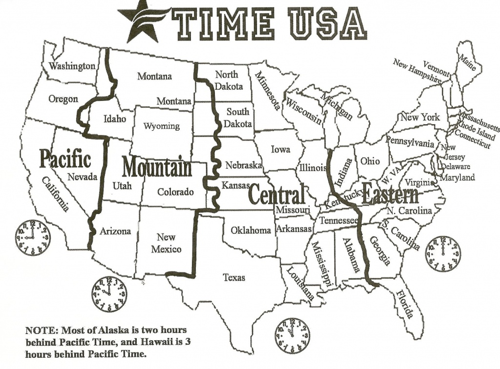 Black And White Us Time Zone Map - Google Search | Social Studies - Printable Us Time Zone Map