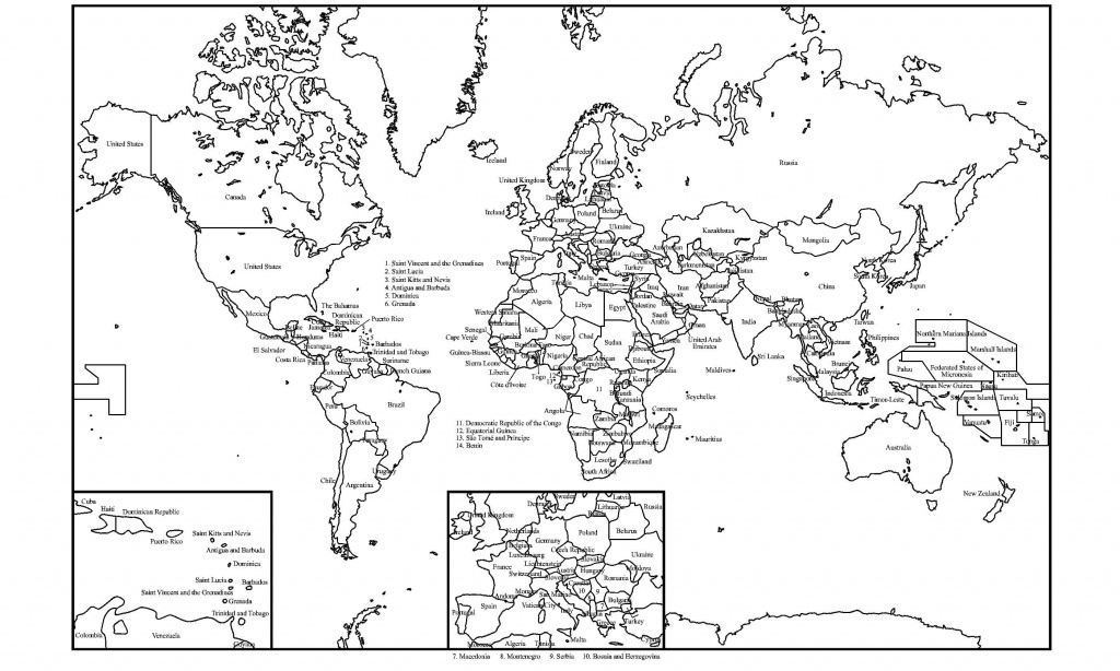 Black And White World Map With Continents Labeled Best Of Printable - World Map Black And White Labeled Printable