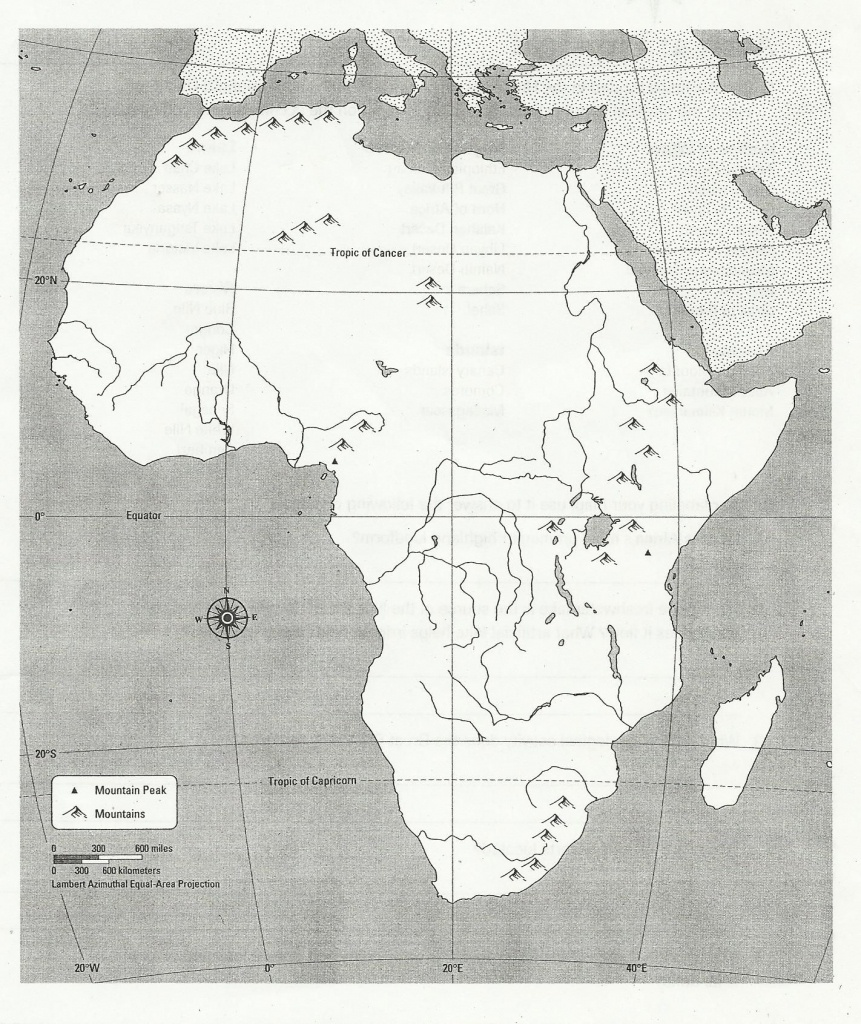 Blank Africa Physical Map | Too Cool For School | Africa Map - Africa Map Quiz Printable