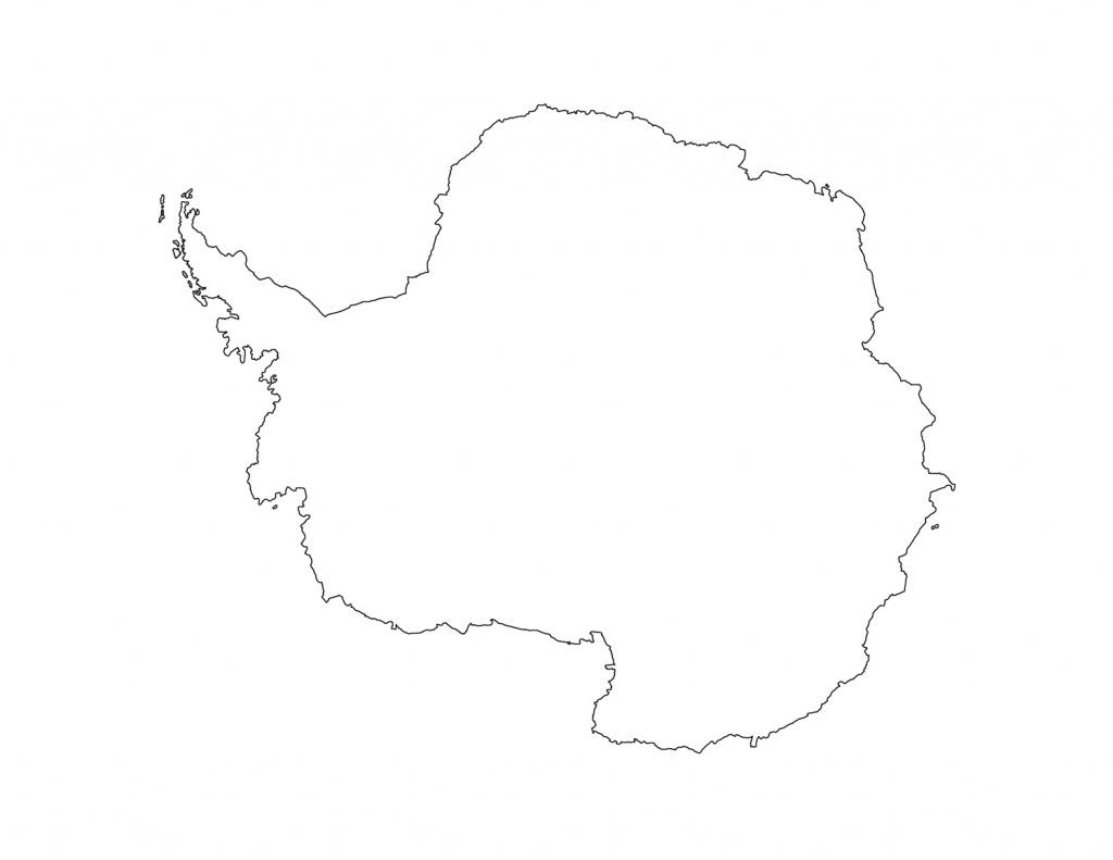 Blank Antarctica Map Printable - Printable Map Of Antarctica