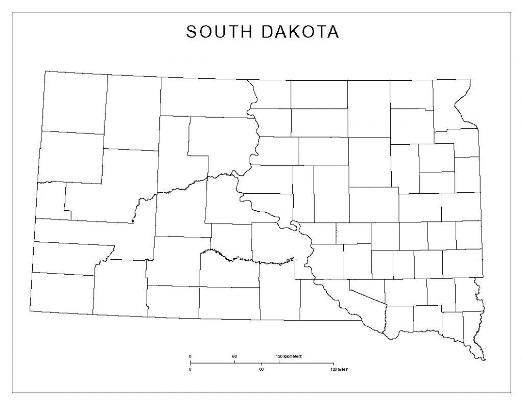 Blank County Map Of South Dakota - South Dakota County Map Printable
