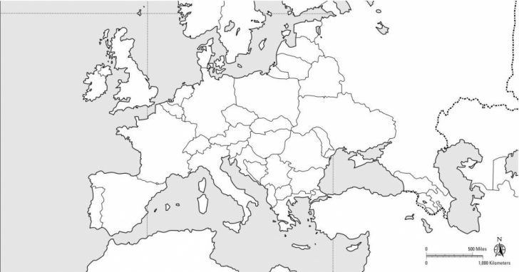 Blank Political Map Of Europe Printable