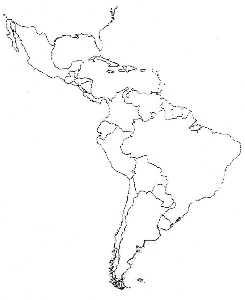 Blank Latin America Map Quiz   Social Studies   Latin America Map - Central America Map Quiz Printable