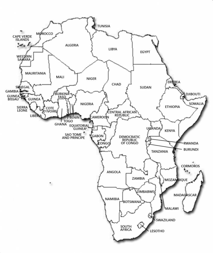 Printable Blank Map Of Africa