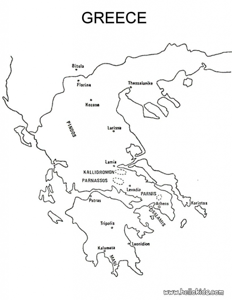 Blank Map Of Ancient Greece | Xorforums - Outline Map Of Ancient Greece Printable
