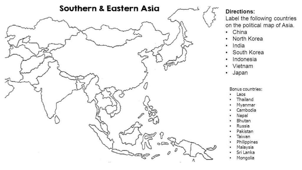 Blank Map Of Asia Countries Noavg Me With Blind Big South East - Printable Blank Map Of Southeast Asia