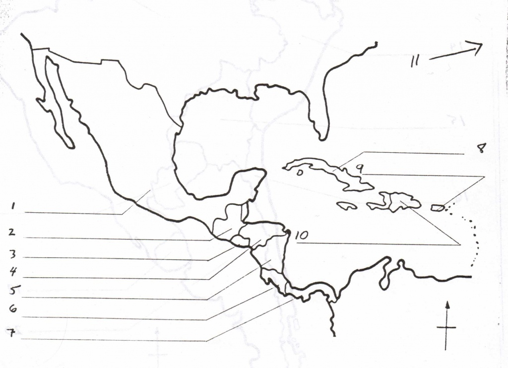 Blank Map Of Central America And Caribbean Islands - America Map - Printable Blank Caribbean Map