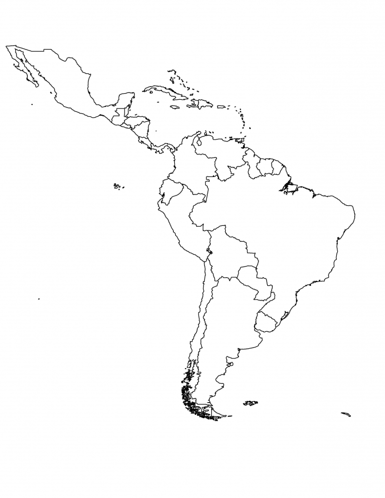Blank Map Of Central America Fresh Blank South America Map Printable - Blank Map Of Latin America Printable