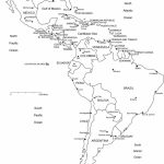 Blank Map Of Central And South America Printable And Travel   Printable Map Of Central And South America