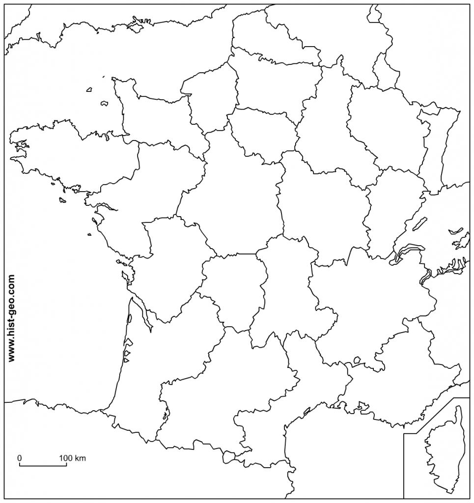 Blank Map Of France - Recana Masana - Map Of France Outline Printable