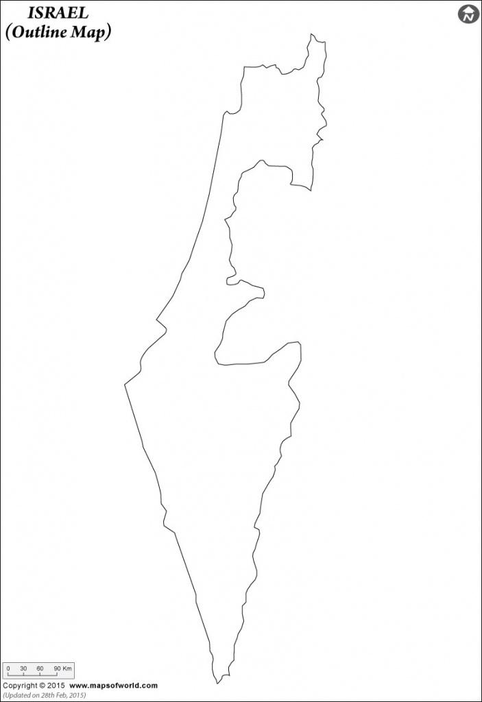 Blank Map Of Israel   Israel Outline Map - Israel Outline Map Printable