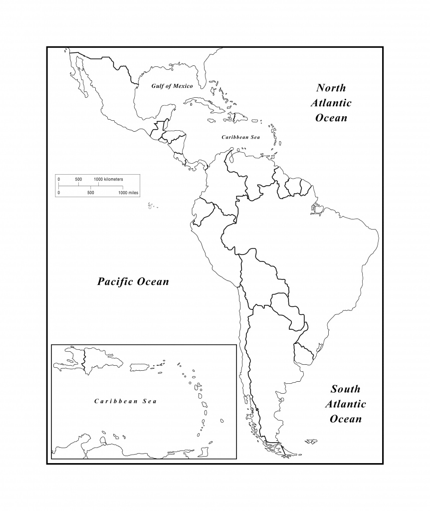 Blank Map Of Latin American Countries And Travel Information - Printable Map Of Latin America