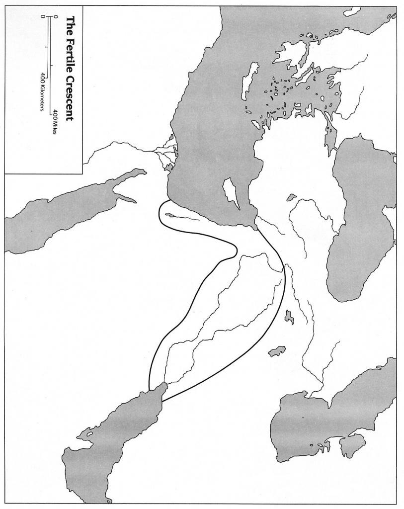 Blank Map Of Mesopotamia For Labeling | Mesopotamia For Kids - Fertile Crescent Map Printable