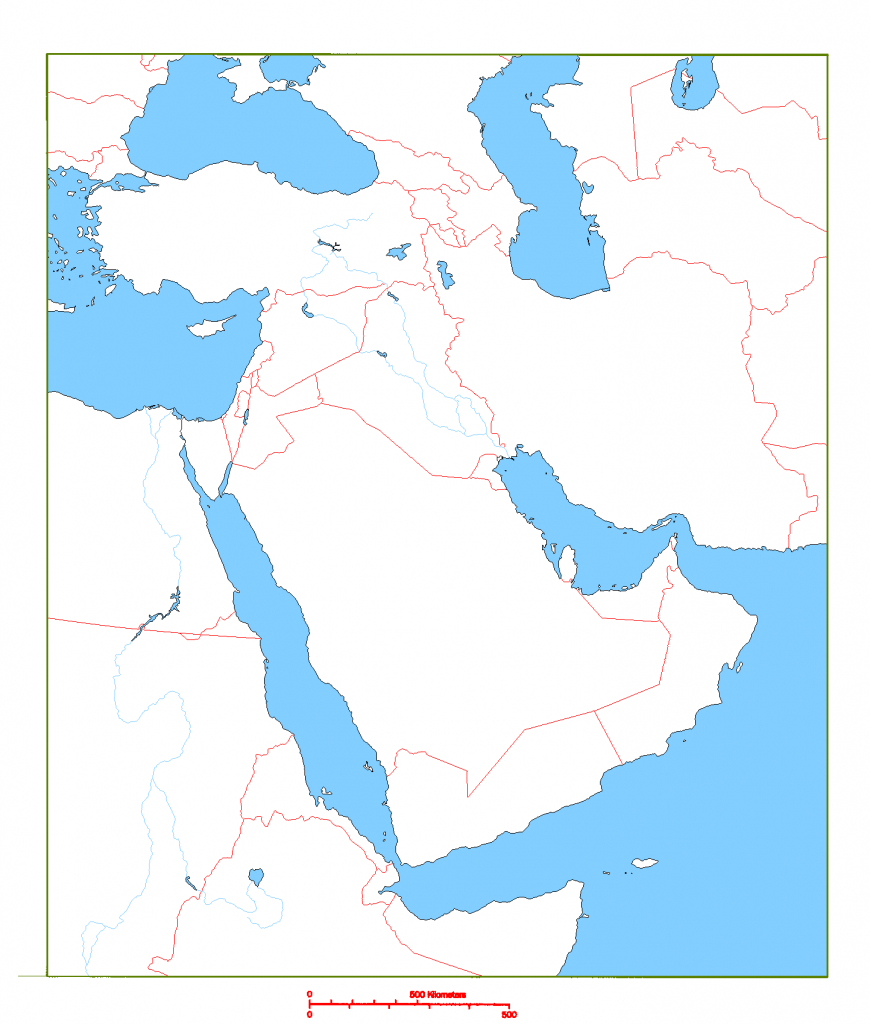 Blank Map Of Middle East   Cc Geography   Geography, Middle East Map - Middle East Outline Map Printable