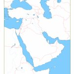 Blank Map Of Middle East | Cc Geography | Middle East Map, Map   Printable Blank Map Of Middle East