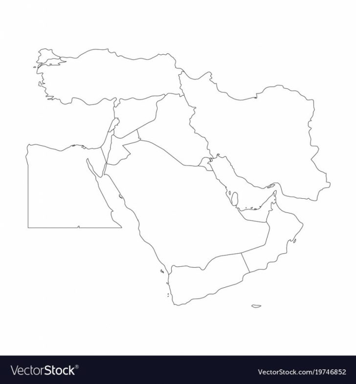 Printable Blank Map Of Middle East