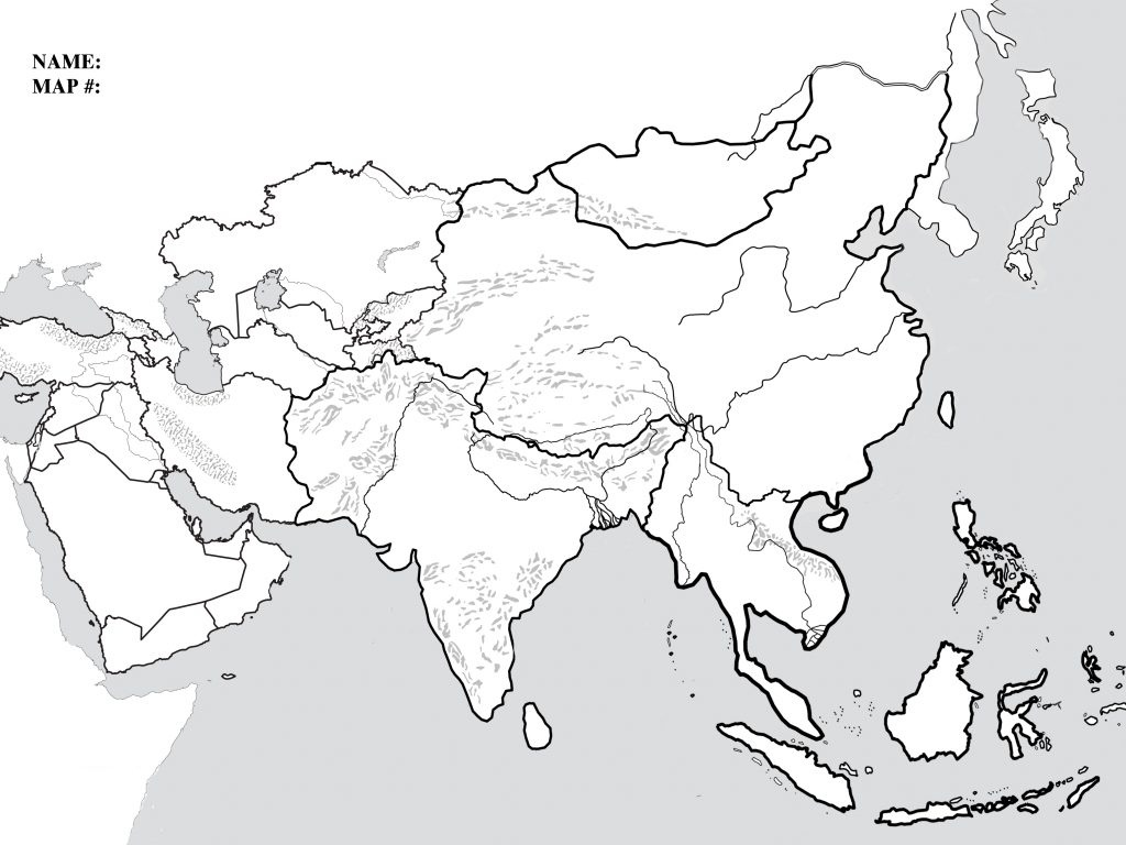 Blank Map Of Monsoon Asia And Travel Information | Download Free - Blank Map Of Asia Printable