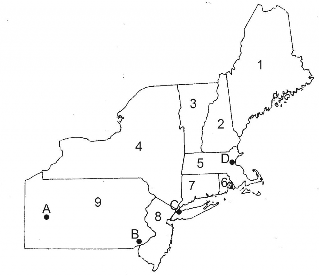 Blank Map Of Northeast Us And Travel Information | Download Free - Us Map Quiz Printable Free