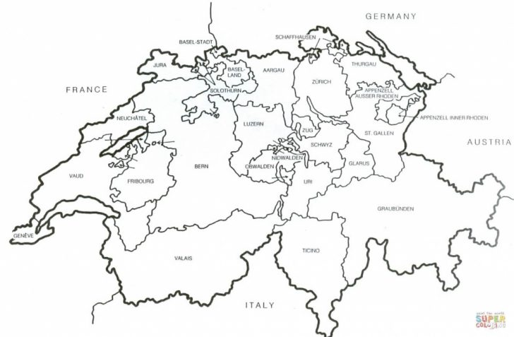 Printable Map Of Switzerland