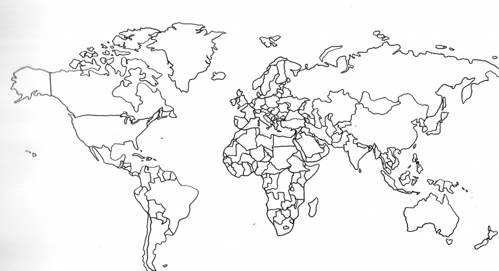 Blank Map Of The World With Countries And Capitals - Google Search - Printable World Map With Countries