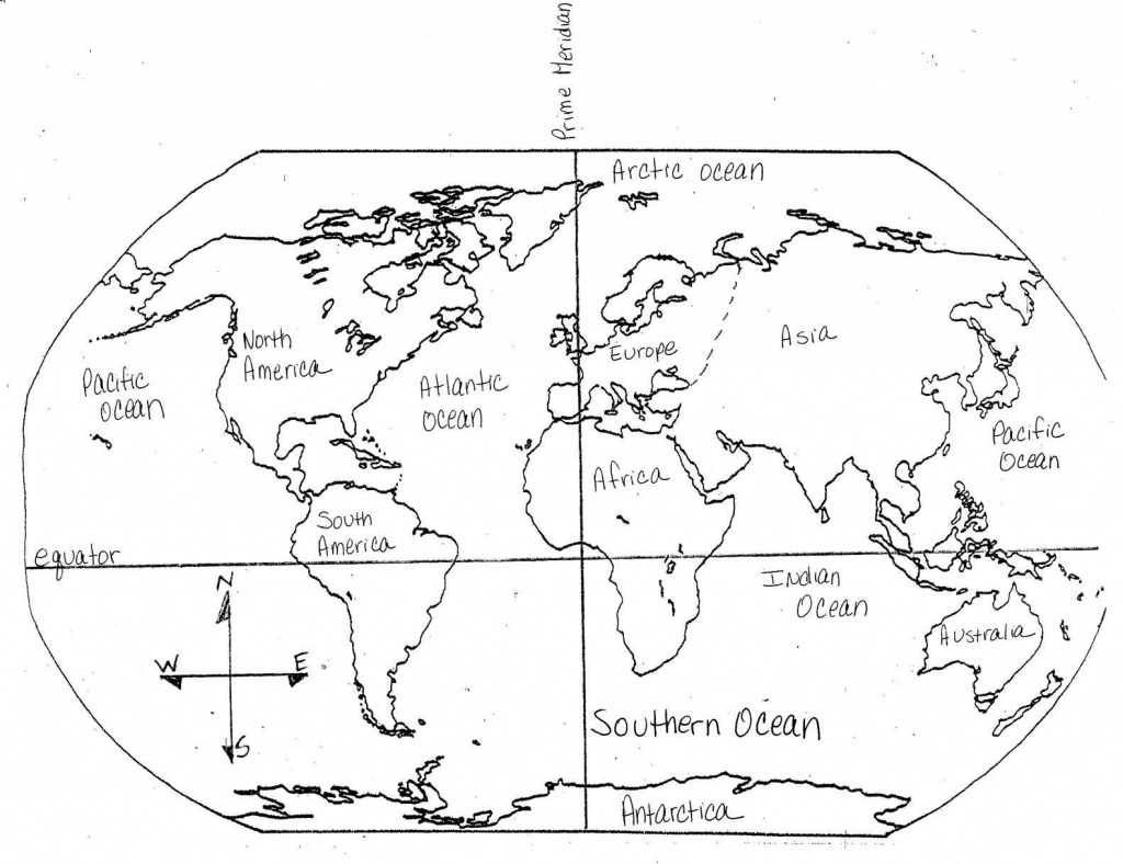 Blank Maps Of Continents And Oceans And Travel Information - Map Of Continents And Oceans Printable