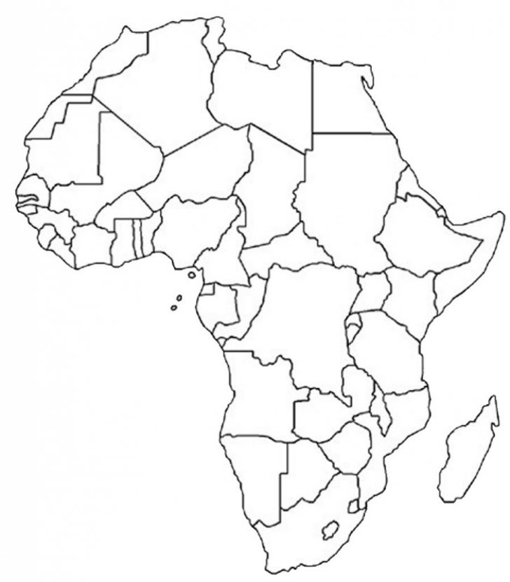 Africa Outline Map Printable