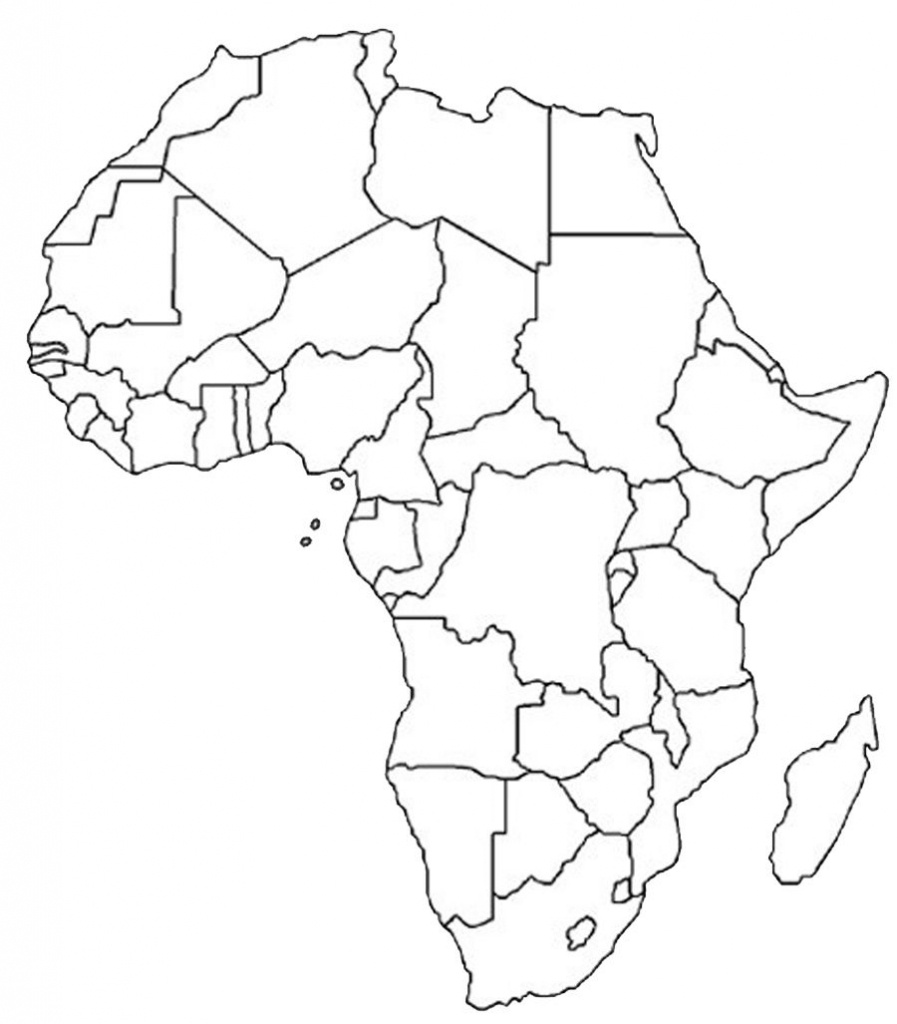 Blank Outline Map Of Africa | Africa Map Assignment | Party Planning - Printable Blank Map Of Africa