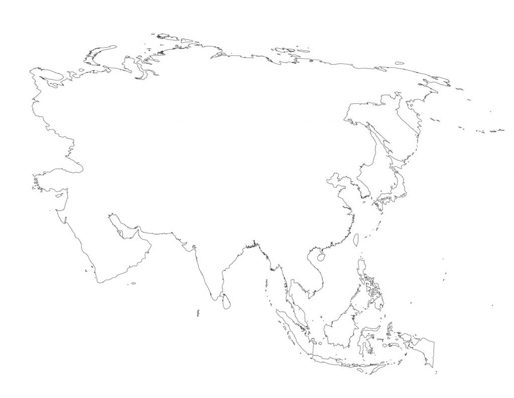 Blank Outline Map Of Asia Printable 8 - World Wide Maps - Blank Outline Map Of Asia Printable