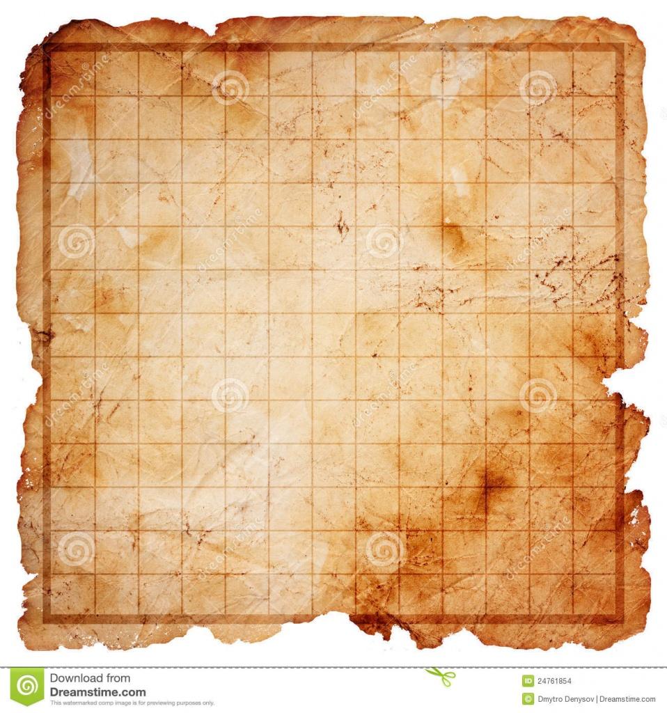 Blank Pirate Treasure Map Stock Illustration. Illustration Of Pirate - Printable Treasure Map Template